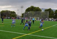 Práctica deportiva en una imagen de archivo relativa a un encuentro de fútbol en campos del antiguo Hipódromo