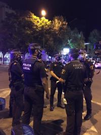 Dispositivo de Policía Local de Alicante