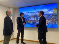 Barcala, Peral y Morales en una presentación del centro