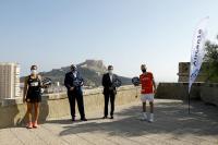 Presentación del torneo en Alicante, con José Luis Berenguer, Luis Torres y los jugadores Lamperti y Araujo