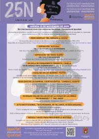 Cartel Agenda 25N 2020