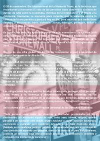 Cartel 25N: memoria trans