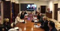 Reunion de coordinación en la Generalitat Valenciana de las medidas de seguridad para Navidad