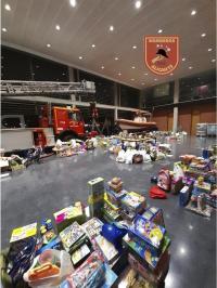 Donaciones VI Jornada Solidaria de los bomberos del SPEIS