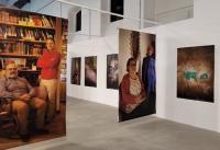 Imagen sobre la instalación de la exposición en la Caja Blanca