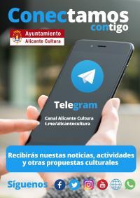 Cartel alusivo al nuevo servicio de mensajería Telegram