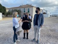 La vicealcaldesa Mari Carmen Sánchez y el concejal de Urbanismo se desplazaron fechas atrás a Tabarca para interesarse por los temas de la isla
