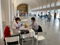 El alcalde Luis Barcala en la Jornada de donación de sangre organizada por el Ayuntamiento el pasado 12 de febrero