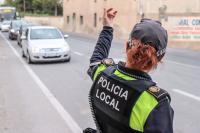 Control policial de tráfico para asegurar el cumplimiento del estado de alarma