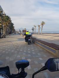 Control en playa