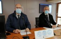 Los concejales Manuel Villar y Antonio Manresa, en la rueda de prensa para dar cuenta de los acuerdos de la Junta