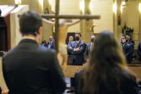 Un momento del Vía Crucis Oficial de Semana Santa 2021
