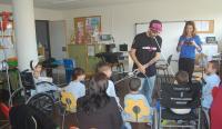 Una de las pasadas actuaciones de Cultura en el aula pedagógica del Hospital General