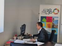 Antonio Peral, durante la reunión de la Comisión Constitutiva
