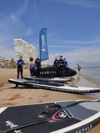 Actividad náutica realizada en el marco de la campana press trip en Alicante