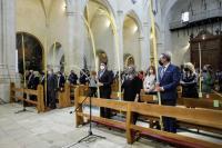 El alcalde Luis Barcala, la vicealcaldesa Mª Carmen Sánchez, y el concejal de Fiestas, Manuel Jiménez han asistido al acto de bendición de las ...