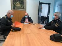 Reunión del concejal de Seguridad, José Ramón González, con los responsables de la Policía Local, para coordinar la Operación 'Puente de Sa...
