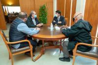 El alcalde, en la reunión de trabajo con representantes del Colegio Oficial de Enfermería