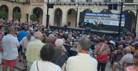 Imagen de archivo de una actuación del Brass Festival, que tiene lugar cada verano en la plaza del Ayuntamiento