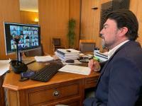 El alcalde Luis Barcala ha asistido, mediante videoconferencia, a la Comisión Provincial del Agua