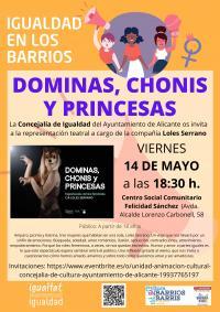 Cartel Dóminas, chonis y princesas