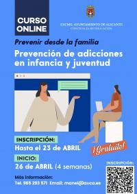 """CURSO ON LINE """"Prevención de las  Adicciones en la Infancia y la Juventud"""""""