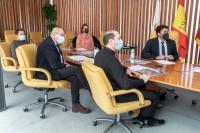 Un momento de la rueda de prensa telemática para la Santa Faz 2021