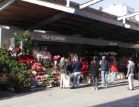 Puestos de flores del Mercado Central