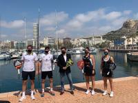 José Luis Berenguer con los jugadores del World Padel Tour