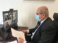 El concejal José Ramón González ha presidido, mediante videoconferencia, la Comisión Permanente de Servicios