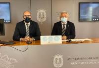 Los concejales Manuel Villar y Antonio Manresa, en la Rueda de Prensa tras la Junta de Gobierno Local