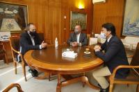 Reunión Luis Barcala y el presidente de la Cámara de Comercio