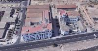 Vista aérea de las harineras Bufort y Cloquell - PAI UE nº 2 BENALUA SUR