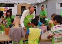 Manuel Villar, en una actividad infantil a favor del medio ambiente (imagen de archivo)
