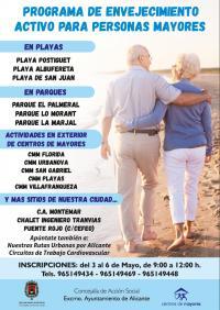 Uno de los carteles del programa de Envejecimiento activo