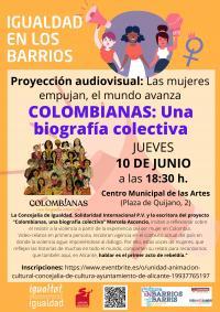 Proyección audiovisual: Colombianas