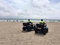 Dispositivo policial anticovid en playa