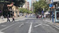 Primera jornada de peatonalización del centro de Alicante