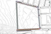 Plano proyecto urbanización Cuartel Guardia Civil en Rabasa