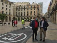 Alicante reduce a 20 kilómetros horas