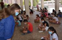 Julia Llopis, en una de las pasadas Escuelas de verano de Acción Social
