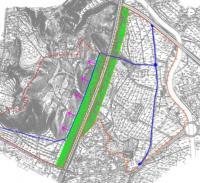 """Imagen del plano de la zona """"el pino y ruaya"""""""