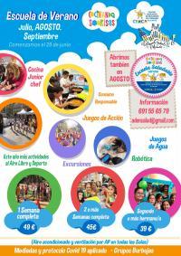 cartel escuela de verano