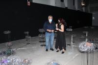 Antonio Manresa en la exposición Space Debris Constelaciones de desechos