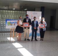 presentación del cupón de la ONCE con el que se homenajea a la hostelería