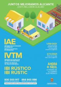 Cartel informativo IVTM, IAE e IBI Rústico 2021