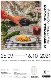Cartel de la exposición de la creadora Aurora Domínguez