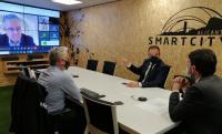 El alcalde, el concejal de Innovación y el jefe de servicio de Modernización, en las Jornadas on line
