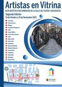 Alicante calle del Teatro - Artistas en vitrina