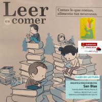 Cartel para la ilustración del Club de lectura San Blas